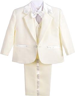 Lito Angels 男婴正装燕尾服婚礼洗礼套装,无尾 5 件套 022