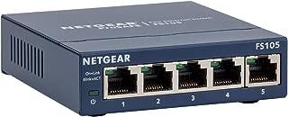 NETGEAR FS105-300UKS ProSAFE 5 端口快速以太网 10/100 不可控制/ 非托管交换机终身保修FS105-300UKS 5-Port Ethernet Switch