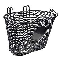 Biria 篮子带挂钩,正面,可拆卸,儿童钢丝网,小号儿童自行车篮。 可以在圆盘上绘画/绘画任何东西或添加贴纸,直径为 7.62 cm,新