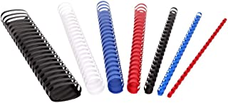 TTO 塑料装订书脊 16 毫米,红色 100 件