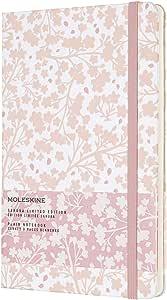 Moleskine 2019年版樱花限定笔记本 素色 硬盖 大尺寸 白色 LESU02QP062