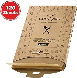 用于烘焙的羊皮纸 - 用于烘焙纸的羊皮纸未漂白羊皮纸预裁半页平底饼干烘焙纸板羊皮纸预裁羊皮纸用于烘焙 120 sheets unbleached parchment paper sheets 120
