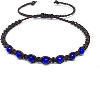 Origin Siam 手工宝石串珠编织手链 | 石材*、脉轮、保护、能量腕带| 半宝石| 可调节尺寸男女皆宜