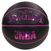 SPALDING(斯伯丁) 篮球 5号 室外用 全息图 NBA公认 83-795J 黑粉色 篮球 篮子 83-795J
