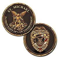 武装*仓库圣迈克尔·警官守护者执法圣挑战硬币