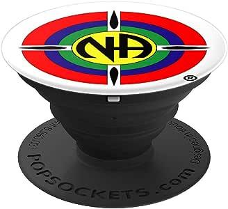 N、tics Anonymous NA 标志男士女士完美礼物 - PopSockets 手机和平板电脑握架260027  黑色