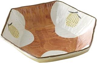 Yamasita Craft 山下工艺 美浓烧 金盏花仁椿绘六角盆 3.5×18.5×16.5 厘米 13045820