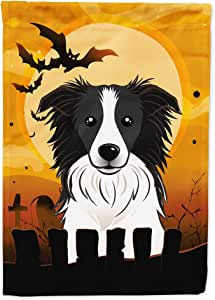 carolines treasures bb1799chf halloween border collie flag canvas house size