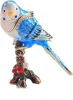 PIEARTH 首饰盒 虎皮鹦鹉(蓝色) 285-2
