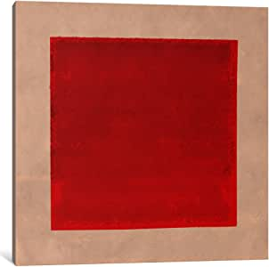 iCanvasART MA216-1PC6-37x37 Modern Art-Red Square Complete After Albers Canvas Print by iCanvas, 37 x 37 x 1.5-Inch