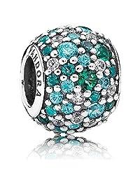 Pandora 潘多拉 海洋绿色 Pavé密镶宝石串珠 791261MCZMX(丹麦品牌 )