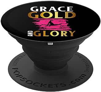 Grace Gold and Glory 女士体操体操体操 PopSockets 手机和平板电脑握架260027  黑色