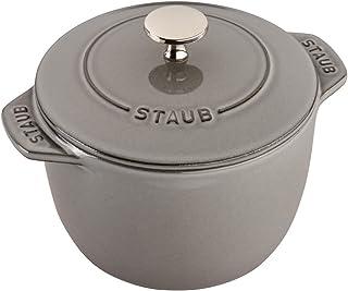 STAUB 珐宝  11721618铸铁小法式圆锅,1.5夸脱/约1.42升,石墨灰色