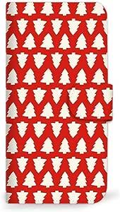 MITAS 智能手机保护壳翻盖型圣诞节红色  D 26_Priori3 LTE (FTJ152A)