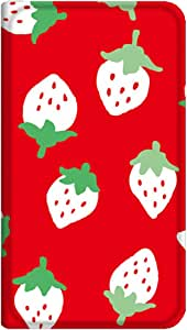 智能手机壳 手册式 对应全部机型 薄型印刷手册 cw-171top 套 手册 草莓 超薄 轻量 UV印刷 壳WN-PR358915-ML ビジネススマートフォン F-04F 图案 A