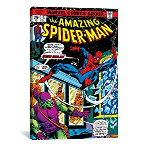 iCanvasART Marvel Comic Book Spider-Man Issue Cover #137 Canvas Art Print, 18 by 12-Inch
