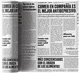 "MYdrap 鸡尾*餐巾纸 * 纯棉 10.16cm x 10.16cm 每卷 50 张餐巾纸 Newspaper Print 4.5"" x 4.5"" SA11NW/101-2"