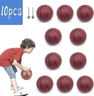 FLYING TIGER 迷你篮球塑料替换篮球迷你玩具,5.5 英寸充气篮球带篮球针,适合室内户外运动沙滩泳池游戏派对(10 件装)