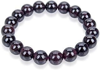 天然宝石手镯 17.78 cm 19.05 cm 8 英寸弹性查克拉 10 mm 珠宝石宝石*水晶石英女士男生女孩生日礼物(男女皆宜)