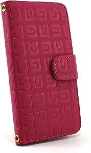 白色坚果回纹图案手机保护壳翻盖式 粉色 3_ Galaxy S3 progre SCL21 Samsung