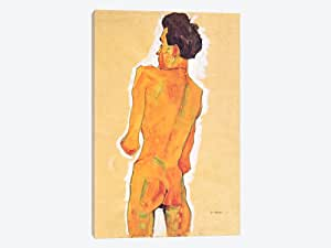 iCanvasART 8236-1PC3-26x18 Standing Male Back Act Canvas Print by Egon Schiele, 0.75 x 18 x 26-Inch