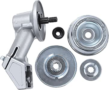 Hoypeyfiy 线修剪器齿轮箱头 适用于 Stihl FS44 FS74 FS80 FS85 FS90 FS110 FS130 替换 4137 640 0100