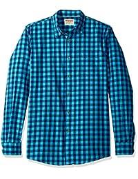 牧马人 authentics 男式长袖高级条纹衬衫