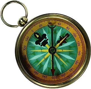 MGT 磁性导航设备 - 黄铜军事透视指南针用于公司/个人礼物... 指南针