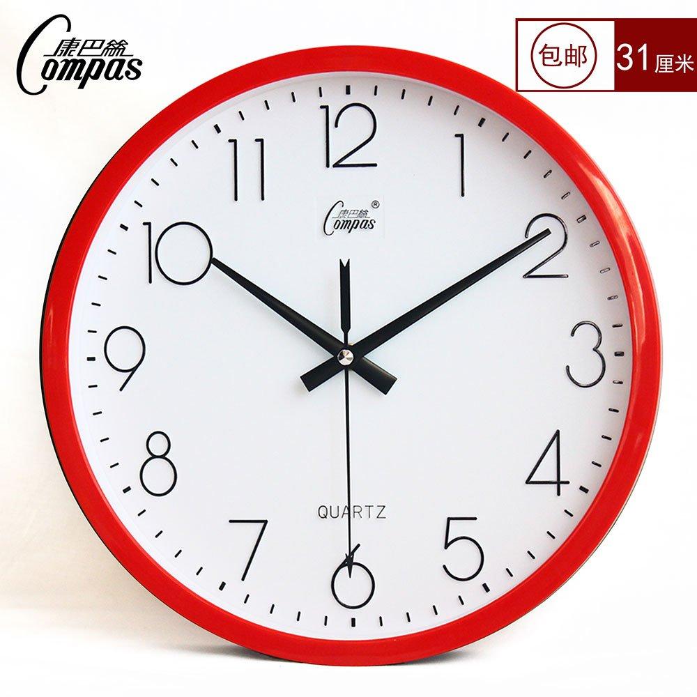 康巴丝静音客厅挂钟简约石英钟大挂表时尚钟表创意壁挂钟办公钟表2448图片