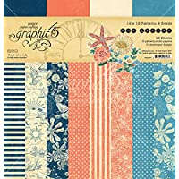 """Graphic 45 Double-Sided Paper Pad 12""""X12"""" 16/Pkg-Sun Kissed Print/Solid, 8 Desig"""