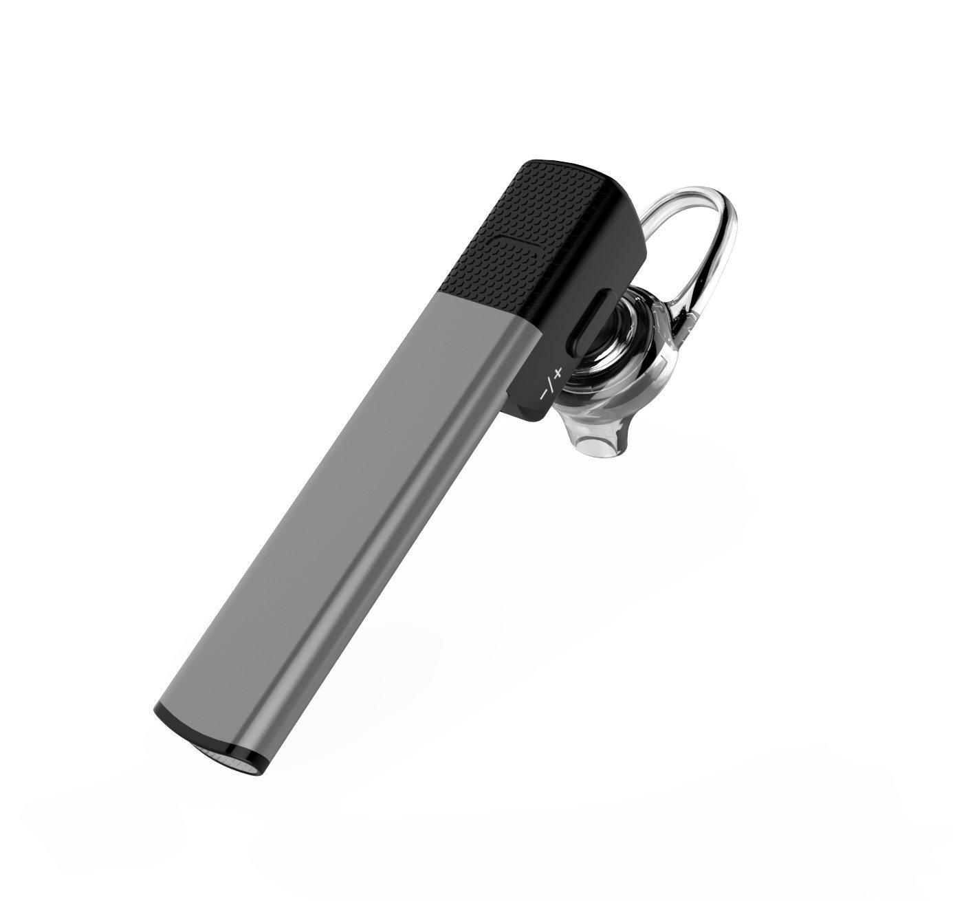 FlatFinワイヤレスBluetoothヘッドセット、ハンズフリーのiPhoneアプリのiPod、サムスン、Android携帯電話、黒用のマイク付きイヤーヘッドフォン