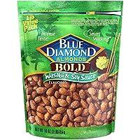 Blue Diamond Almonds 大膽的芥末醬油味, 16 Ounce/454g