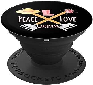 Peace Love 园艺趣味家居设计 - PopSockets 手机和平板电脑握架260027  黑色