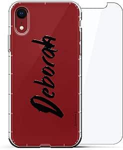 豪华设计师,3D 印花,时尚,气袋垫,360 玻璃保护膜套装手机壳 iPhone XR - 透明阿尔巴尼亚国旗LUX-I9AIR360-NMDEBORAH1 NAME: DEBORAH, HAND-WRITTEN STYLE 透明