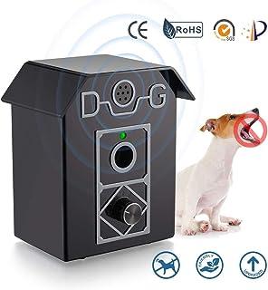 Kaier cat 防吠设备,止吠器户外狗驱赶器带可调节超声波水平控制声波止吠器,止吠器可达 50 英尺(约 15.2 米)。 适用于狗狗