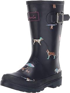 Joules 女孩 Welly Print Wellington 靴子
