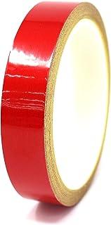 *优 Folia Oracal 乙烯基条纹胶带 751 细条纹贴纸 83.82 厘米汽车摩托车自行车 RC 汽车卡车船贴纸(红色反光,0.95 厘米)