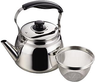 珍珠金属 宽口 水壶 茶具 带烫面 支持IH 不锈钢 价格 2 1.6L H-1235