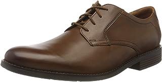Clarks 男士 Becken 系帶布洛克鞋