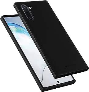 Goospery Style Lux Jelly 三星 Galaxy Note 10 手机壳 (2019) 薄薄款保险杠盖 NT10-STYL 黑色