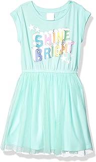 亚马逊品牌 - 斑点斑马女孩幼童和儿童针织短袖短裙
