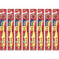 兒童牙刷 1歲半-5歲用 面包超人 黃色 8本