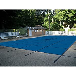 Water Warden Pool Safety Cover Solid Blue 20 by 50-Feet Pool