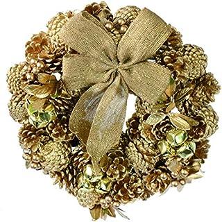 彩か【SAIKA】 CGX-R10M Ribbon Wreath -Gold & Leaves M