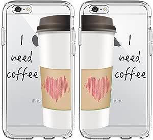 """鲨鱼透明 . """" I NEED 磨 """" 版情侣手机壳适用于 one:iphone 7 &one: iphone 7 Plus"""