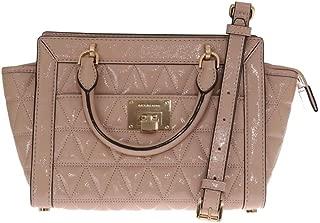 MICHAEL Michael Kors Women's Vivianne Small Shoulder Shiny Leather Handbag Messenger