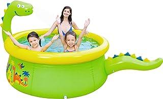 Lunvon 儿童充气泳池,恐龙泳池洒水器玩具,尺寸 70 英寸 X 25 英寸(约 177.8 厘米 X 63.5 厘米),儿童泳池,适合 3 岁以上儿童,**