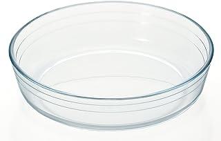 阿德利亚 耐热玻璃 盘子 *大23×23×高5.3cm 阿尔昆西 圆形蛋糕 H-3612