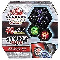 Bakugan Pro Armored Elite 入门套装,包括 Darkus Dragonoid Ultra、Ventus Howlkor、Pyrus Trox、40 张卡牌等