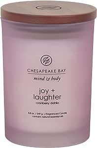 Chesapeake Bay 蜡烛 Mind & Body 咖啡桌香薰蜡烛 Joy + Laughter (Cranberry Dahila) 中 PT31914